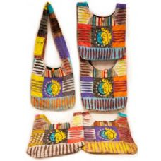 10 Units of Handmade Nepal Hobo Bags Sun Moon Patch Design - Handbags