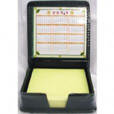 48 Units of Memo Paper in Leather Holder - Memo Holders and Magnets