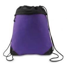 24 Units of Coast to Coast Drawstring Pack - Purple and Black