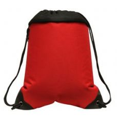 """24 Units of Coast to Coast Drawstring Pack - Red - Backpacks 15"""" or Less"""