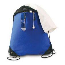 "24 Units of Coast to Coast Drawstring Pack - Royal/Black - Backpacks 15"" or Less"