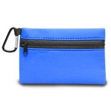 350 Units of Neoprene Zipper Wallet - Royal - Leather Purses and Handbags