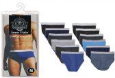 48 Units of Men's 3 Pack Cotton Briefs - Mens Underwear