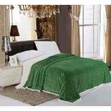 12 Units of Sherpa & Velboa Carved Reversible Blanket Queen Size