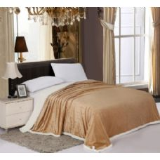 12 Units of Sherpa & Velboa Carved Reversible Blanket King Size
