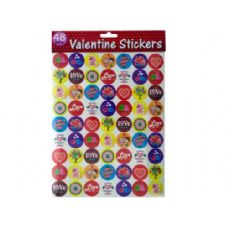 144 Units of 48pk valentine stickers - Closeouts