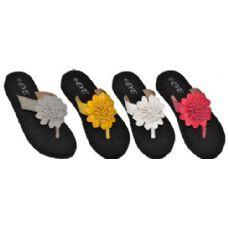 36 Units of Ladies Flower Sandal
