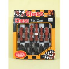 72 Units of CHESS 3 IN 1 GAME - Dominoes & Chess