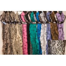 72 Units of Light Weight Scarves Leopard Animal Print assorted - Womens Fashion Scarves