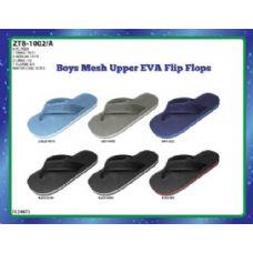 72 Units of BOYS MESH UPPER EVA FLIP FLOPS WITH WATERLINE - Boys Flip Flops & Sandals