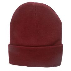 36 Units of Unisex Maroon Color Beanie Hat 12 Inch - Winter Beanie Hats