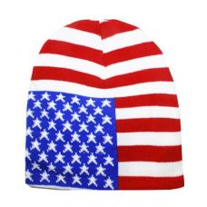 72 Units of American Flage Beanie Hat