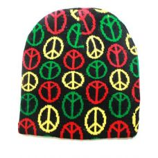 36 Units of Peace Sign Winter Beanie Hat - Winter Beanie Hats