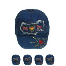 72 Units of KID SUMMER HAT ONE COLOR - Kids Baseball Caps