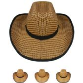 24 Units of WESTERN COWBOY HAT ASSORTED - Cowboy & Boonie Hat