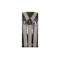 48 Units of SILVER SPARKLE SUSPENDER - Suspenders