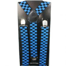 48 Units of Checkered Blue and Blue Suspender - Suspenders