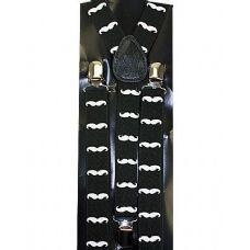 48 Units of BLACK MUSTACHE SUSPENDER - Suspenders