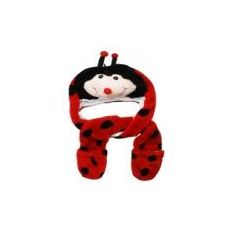 12 Units of WINTER ANMIAL HAT LADYBUG