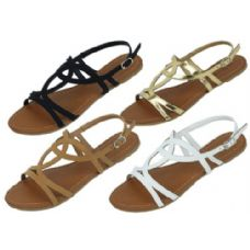 36 Units of Ladies Fashion Sandals Size 5-10