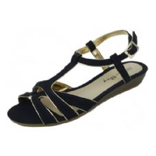 18 Units of Ladies Fashion Summer Sandals In Black - Women's Sandals