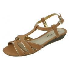 18 Units of Ladies Fashion Summer Sandals in Brown - Women's Sandals