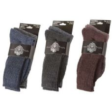 36 Units of Men's Heavy Thermal Socks - Mens Crew Socks
