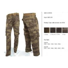 12 Units of Men's Fashion Cargo Camouflage Pants 100% Cotton