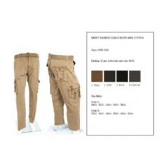 12 Units of Men's Fashion Cargo Pants 100% Scale B Size Only - Mens Pants