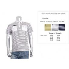 48 Units of Men's Fashion Polo Shirt Size Chart B Only - Mens Polo Shirts
