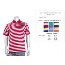 36 Units of Men's Fashion Y/D Stripe Polo Shirt In Size Chart B Only - Mens Polo Shirts