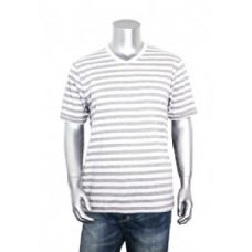 30 Units of Men's Stripe V-Neck Shirt 60% Cotton Size Chart B Only - Mens Shirts