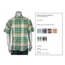 36 Units of Mens Fashion Plaid Button Down Shirt Y/D 60% Cotton 40% Poly Size Scale A Only - Men's Work Shirts
