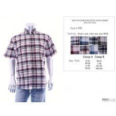 48 Units of Mens Fashion Button Down Shirts 60% Cotton Size Scale B Only - Mens Shirts
