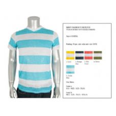 30 Units of Mens Fashion V-Neck Top Burn Out Single Jersey Size Scale A
