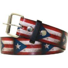 72 Units of Puerto Rico Flag Printed Belt
