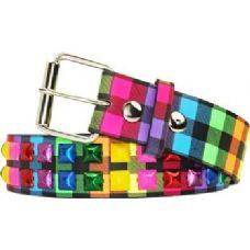 36 Units of Studded Rainbow Belt