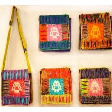 15 Units of Small Nepal Sling Bags Handmade Owl Design - Handbags