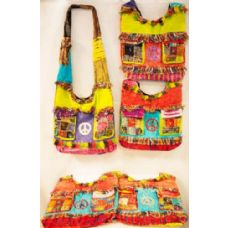 15 Units of Handmade Nepal Hobo Bags Peace Two Pockets Design - Handbags