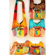 15 Units of Handmade Nepal Hobo Bags Sun Moon Big Pocket Design - Handbags