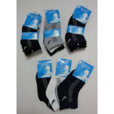 48 Units of 3pr Boys Quarter Socks 6-8Y [Three Colors] - Boys Ankle Sock