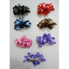 """36 Units of 4"""" Bow Barrette--Camo - Bows & Ribbons"""