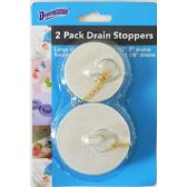 48 Units of Wholesale 2 Pack Bath Drain Basin Stoppers - Best Selling items