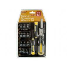 12 Units of 31 piece ratchet screwdriver wrench set - Screwdrivers and Sets