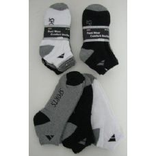 60 Units of Mens SPORT Ankle Socks Assorted Colors Size 10-13