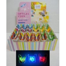 144 Units of Fiber Optic Butterfly - Light Up Toys