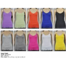 144 Units of Ladies Lace Black Color Only Tank Top - Womens Camisoles & Tank Tops