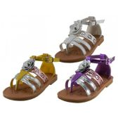 24 Units of Girl's 3D Rose Sandals - Girls Sandals