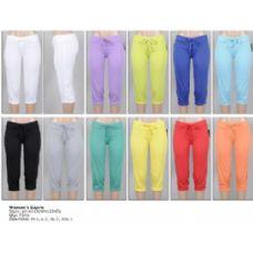72 Units of Terry Capri Pants w/ Elastic Bottom - Womens Capri Pants