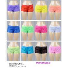 144 Units of Ladies Mesh Reversible Shorts - Womens Shorts